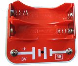 Spektro Batterijhouder Rood B1-19R 3V_