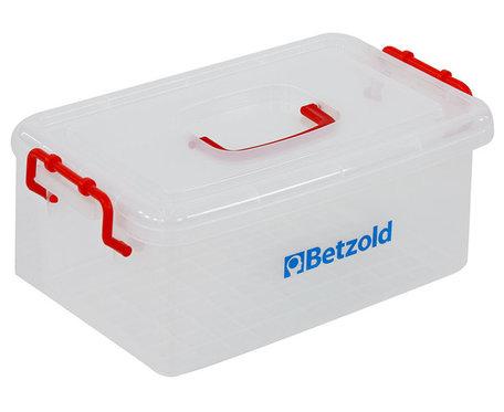 Materiaal Box met deksel en handgreep - Transparant