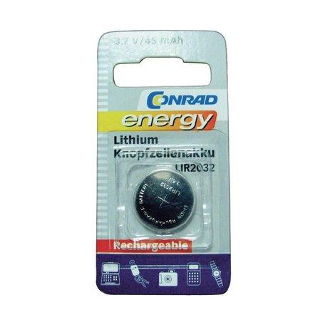 Oplaadbare knoopcel batterij LIR 2032 Lithium 45 mAh 3.6 V