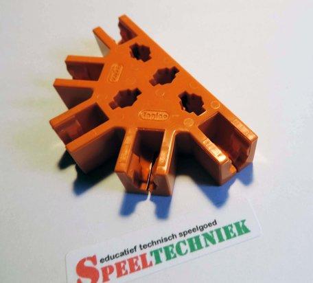 Engino Koppelstuk Oranje 180 graden 9 aansluitingen
