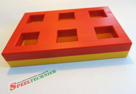 LASiE MAXI MECHANIK onderdeel Frame 6 gaten Geel / Rood