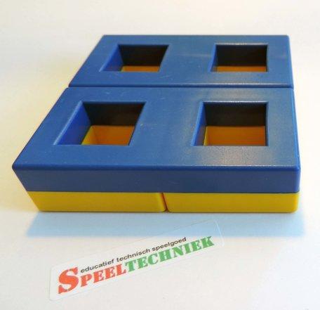 LASiE MAXI MECHANIK onderdeel Frame 4 gaten Geel / Blauw