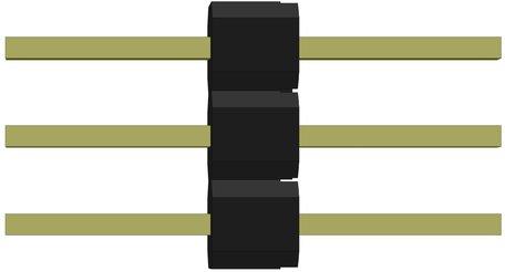 Robotron J-57 3-pin verbinding