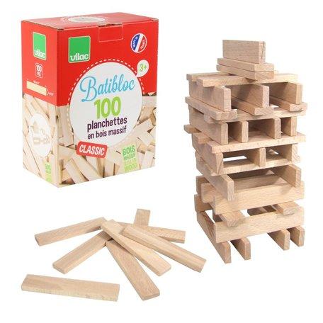 BATiBLOC-classic 100 natuurlijke houten plankjes
