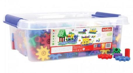 Tandwielen kleurrijk 320-delig STEM - Korbo