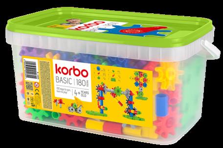 Tandwielen kleurrijk 180-delig - Korbo
