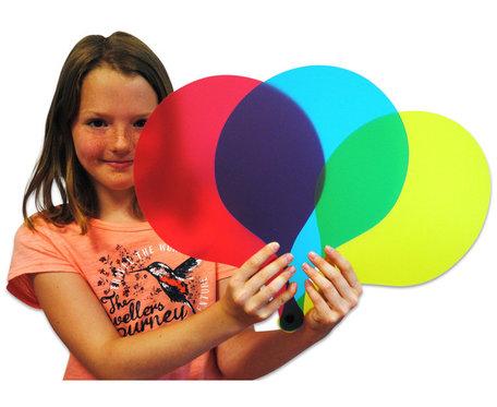 Kleurenwaaier XXL met 3 kleuren (2 sets)