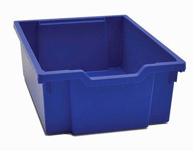Gratnells opbergbox F2 Blauw met Deksel en Inleg