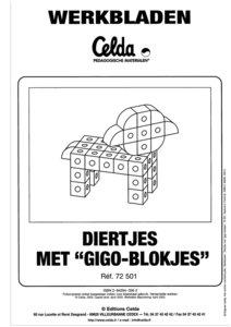 Werkbladen Diertjes met blokjes 7126 NL