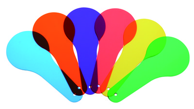 Kleurenwaaier met 6 kleuren