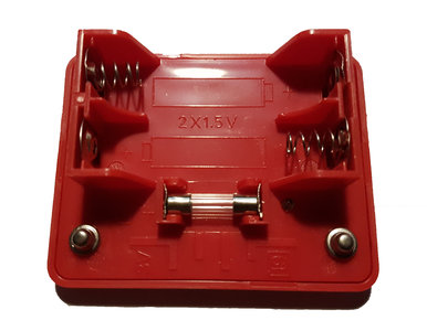 Spektro Batterijhouder Rood met zekering B1-19 3V