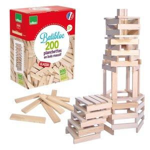 BATiBLOC-classic 200 natuurlijke houten plankjes